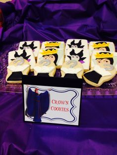 Villains sugar cookies. Would be awesome at a Disney villains party.