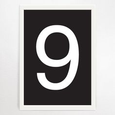 Makers Ink Monochrome Numbers White on Black Art Print 9