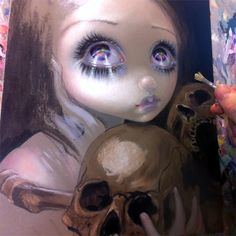 "Work-in-progress  - a piece debuting at Dragon*Con Art Show - ""Ossuary:  The…"