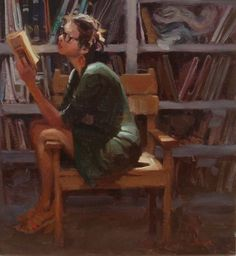 Kim English by beryl Kim English, Reading Art, Woman Reading, Painting People, Figure Painting, English Artists, Figurative Art, Painting Inspiration, Book Worms
