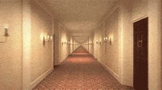 Cover the sides of the hallway with your hands and the animation speeds down, cover the middle and the animation speeds up.