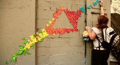 Artist Creates Street Art Installation With Japanese Origami - DesignTAXI.com