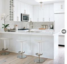 almost all white #kitchen, style at home, kitchen inspiration