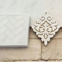 Herringbone marble,