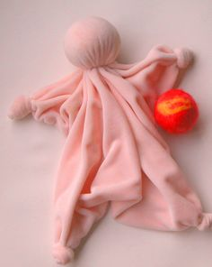 Baby's First Toys - handmade Doll and felted Ball - from Handwork Studio