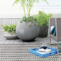 Grid Grey Indoor-Outdoor 3'x5' Rug | Crate and Barrel