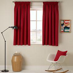 Buy John Lewis Cotton Rib Pencil Pleat Curtains, Lacquer online at JohnLewis.com - John Lewis
