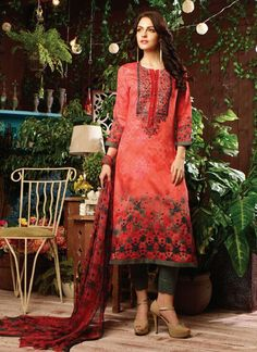 Design and trend will be on the peak of your beauty the moment you dresses this multi colour cotton satin designer straight salwar kameez.
