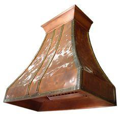 custom copper range hood Texas Lightsmith Model#13, B