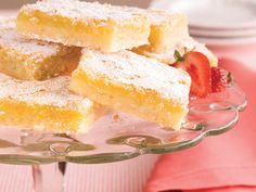 Luscious Lemon Bars | Classic lemon squares are always a popular dessert at teas, luncheons, and  showers.  As an added bonus, you can make them ahead and freeze for up to one month.