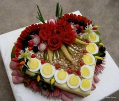 Decorative Salad images «knit home, baby knitting, knitting mode … – Kitchen Utensils Ideas Appetizer Recipes, Appetizers, Sandwich Cake, Food Garnishes, Valentines Food, Edible Arrangements, Food Displays, Food Platters, Food Decoration