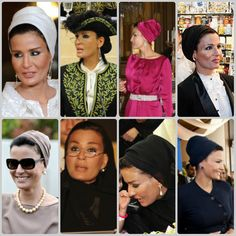 Fashion tip from Sheikha Mozah : looks fantastic when paired with statement earrings.