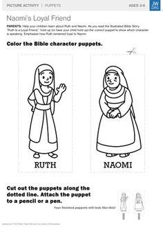 Ruth and naomi maze heros of the bible activities - Pagine da colorare ruth e naomi ...