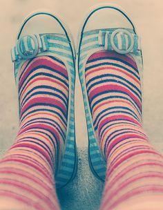 #stripes | More stripes, polka dots and pom poms here: http://mylusciouslife.com/colour-textiles-stripes-polka-dots-pom-poms/