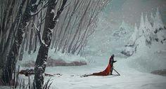 Snowy Corner, Seon Lim on ArtStation at https://www.artstation.com/artwork/snowy-corner