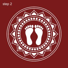 This page provides Lakshmi Pada Rangoli Designs with title Lakshmi Pada Rangoli 1 for Hindu festivals. Lakshmi Pada is also known as Shri Pada and Lakshmi feet. Easy Rangoli Designs Diwali, Simple Rangoli Designs Images, Rangoli Designs Latest, Small Rangoli Design, Rangoli Ideas, Kolam Rangoli, Kolam Designs, Rangoli Painting, Worli Painting