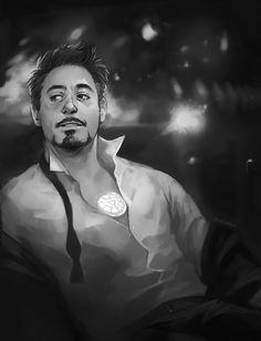 Some amazingly beautiful Tony Stark fanart.