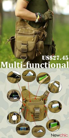 【Must Have】Men Bags Collection.- 【Must Have】Men Bags Collection. Waterproof Nylon Outdoor Multi-functional Cr… 【Must Have】Men Bags Collection. Nylons, Tactical Clothing, Tactical Gear, Rando, Mens Crosses, Cool Gear, Geocaching, Survival Gear, Online Bags