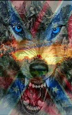 Rebel Flag Tattoos, Patriotic Tattoos, Wolf Images, Wolf Pictures, Lone Wolf Quotes, American Flag Wallpaper, Camo Wallpaper, Wolf Tattoo Sleeve, Patriotic Pictures