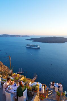 Caldera, Santorini, Greece Royal Caribbean trip[! Hope to see this and much more from my balcony!