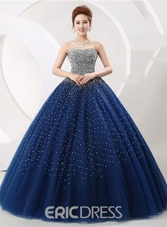 Cheap quinceanera dresses, Buy Quality blue quinceanera dress directly from China blue quinceanera Suppliers: Luxury Heavy Beading Blue Quinceanera Dresses Long Puffy Ball Gown Crystal Sweetheart Tulle Vestidos De 15 Prom Dress For Girls Prom Girl Dresses, Girls Formal Dresses, Sweet 16 Dresses, Ball Gown Dresses, Sweet Dress, Pretty Dresses, Sexy Evening Dress, Evening Dresses, Gown Dress Online