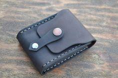 Leather Wallet-Men Wallet-Leather Card Holder Leather-Handmade Dark brown