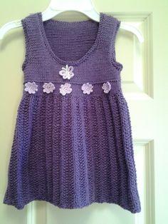 Knited girl's dress