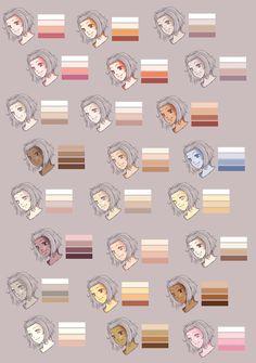 Skin Colour Palette by Rueme on DeviantArt