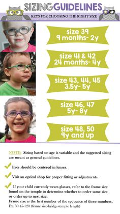 Sizing – Kids Bright Eyes