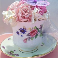 Floral Tea Cup for Mother's Day
