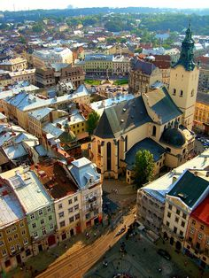 Cathedral & Town Square - Lviv, Ukraine by Ferry Vermeer Places Around The World, Oh The Places You'll Go, Places To Travel, Places To Visit, Around The Worlds, Ice Zug, Beautiful World, Beautiful Places, Eastern Europe