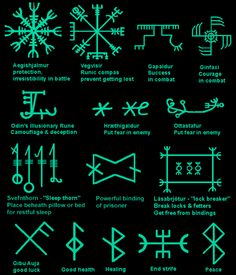 MysticEchoes on – Kochen – diy best tattoo images – Norse Mythology-Vikings-Tattoo Rune Symbols And Meanings, Magic Symbols, Ancient Symbols, Nordic Symbols, Egyptian Symbols, Ancient Art, Arte Viking, Viking Art, Symbole Tattoo