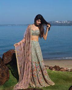 """21k Likes, 93 Comments - Shyamal & Bhumika (@shyamalbhumika) on Instagram: """"#beauty #destinationlooks #beachweddings #ethereal #embroidered #lehenga #couturebridal…"""""""