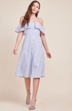 Jeanne Pinstripe Dress
