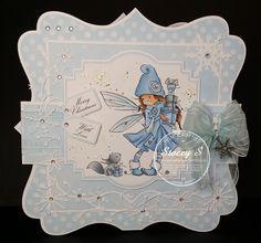 Lasata's Crafty Hideout: Getting a head start! Christmas Love, Christmas Cards, Winter Fairy, Head Start, Copics, Crafty Projects, Sugar, Animals, Hair
