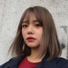 Super hair cuts for round faces plus size double chin short 69 ideas Ulzzang Short Hair, Asian Short Hair, Short Hair With Bangs, Girl Short Hair, Hairstyles With Bangs, Short Hair Cuts, Cool Hairstyles, Short Hair Styles, Korean Short Hair Bangs