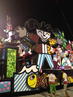 Romero Britto in Rio Carnival