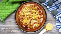 Crazy for a slice of pizza while on low carb or gluten-free diet? Try out this low carb high protein pizza crust! Made with eggs, heavy cream and soy protein powder, each crust has only g … High Protein Low Carb, Low Carb Diet, Pizza Recipes, Seafood Recipes, Soy Protein Powder, Protein Pizza, Dukan Diet Recipes, Favourite Pizza, Gluten Free Diet