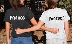 Chemises pour toujours amis dos impression meilleurs par FavoriTee