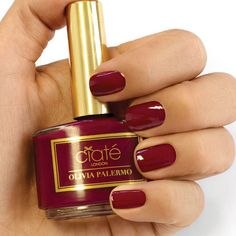 Ox-blood red polish from the #OliviaPalermo Ciaté London collection
