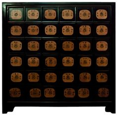 Vintage Chinese Apothecary Cabinet Medicine Storage Chest ...