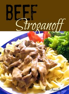 This is an easy and tasty beef stroganoff recipe. The beef always turns out so flavorful and tender. You can serve it over rice or with egg noodles.