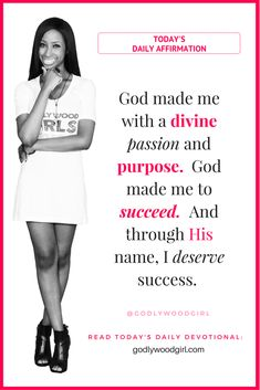 I want to remind you how SPECIAL you are in God's eyes with today's daily affirmation statement. Read how in today's daily devotional for women ==> godlywoodgirl.com  Affirmation Statement