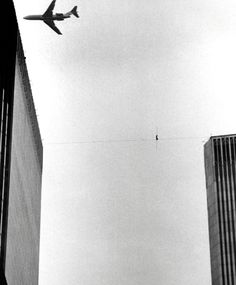 "On August 7, 1974, Philippe Petit crossed a 1,350-foot-high tightrope between the Twin Towers--without safety nets or harnesses--in the ""artistic crime of the century."""