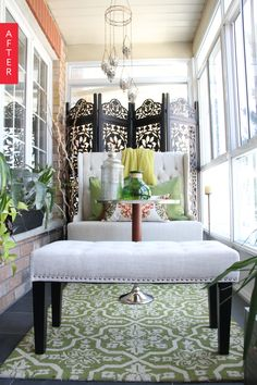 Before & After: A Sunroom Gets Some Style