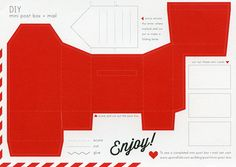 Upon A Fold, Mini Post Box and Mail - Cut Out Postcard | Flickr - Photo Sharing!