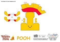 winnie ourson paper toy
