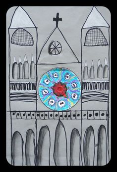 Artsonia Art Museum :: Cathedral with rose window