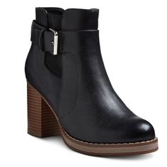 Women's A+ Emery Buckle Ankle Booties - Black