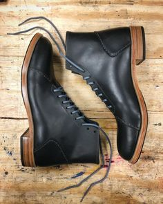 """Standard Handmade on Instagram: """"Asher Boots, black. Ready for home. @austin_lloyd  #handmade #handmadeboots #leathercraft #rugged #bespokeshoes  #mensfashion #style…"""" Mans World, Leather Craft, Combat Boots, Mens Fashion, Handmade, Shoes, Instagram, Black, Style"""